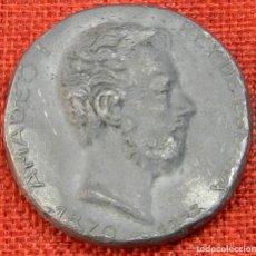 Medallas condecorativas: MEDALLA DE PRUEBA EN PLOMO - AMADEO I REY DE ESPAÑA 1870 - 1933 - CALICO - 112 GRAMOS - 50 MM. Lote 211058339
