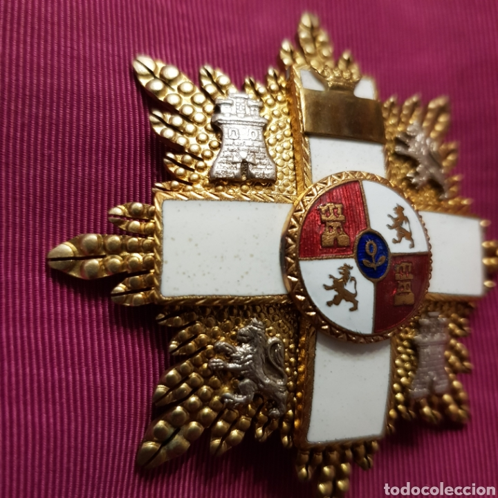 Medallas condecorativas: Gran Cruz de 1ª Clase Orden del Mérito Militar con distintivo blanco 6 cm - Foto 3 - 211585624