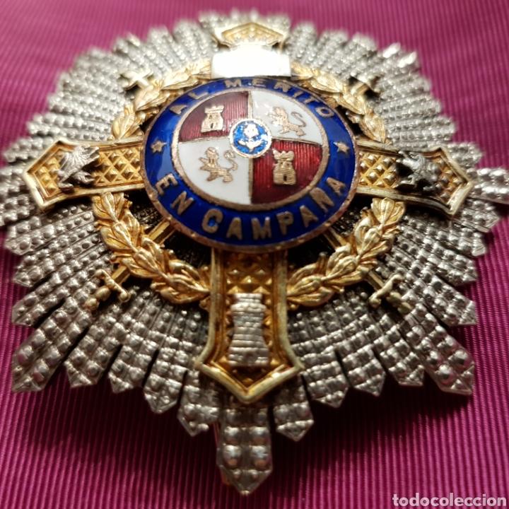 Medallas condecorativas: Cruz de guerra, placa al mérito en campaña en plata con contrastes - Foto 2 - 211590162