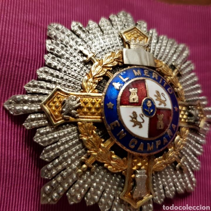 Medallas condecorativas: Cruz de guerra, placa al mérito en campaña en plata con contrastes - Foto 6 - 211590162