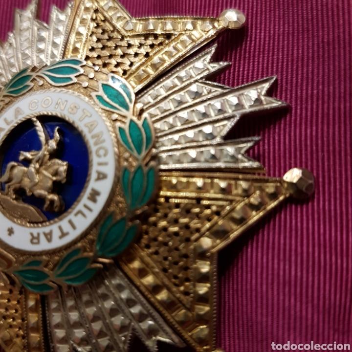 Medallas condecorativas: Gran Cruz Placa Orden de San Hermenegildo A la Constancia Militar - Foto 3 - 211593469