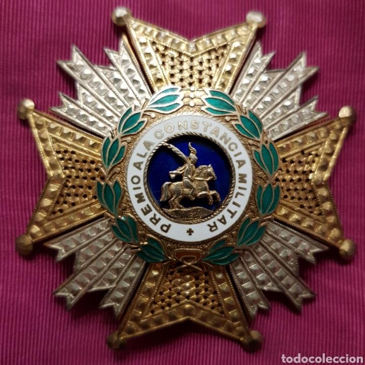 GRAN CRUZ PLACA ORDEN DE SAN HERMENEGILDO A LA CONSTANCIA MILITAR (Numismática - Medallería - Condecoraciones)