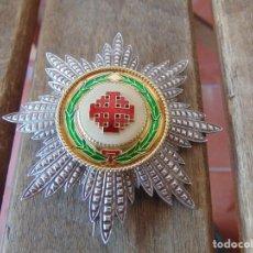 Medallas condecorativas: PLACA MEDALLA EN PLATA Y ESMALTES ORDEN DEL SANTO SEPULCRO. Lote 212406573