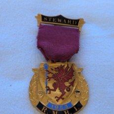 Medallas condecorativas: MEDALLA MASÓNICA BRITÁNICA.. Lote 212630126