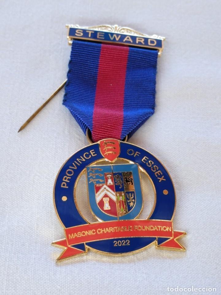 MEDALLA MASÓNICA BRITÁNICA (Numismática - Medallería - Condecoraciones)