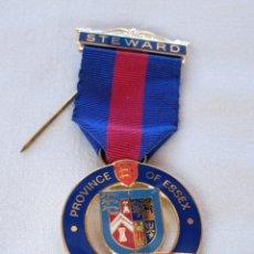 Medallas condecorativas: MEDALLA MASÓNICA BRITÁNICA. Lote 212630627