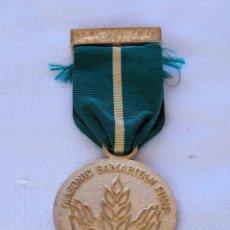 Medallas condecorativas: MEDALLA MASÓNICA BRITÁNICA.. Lote 212631128