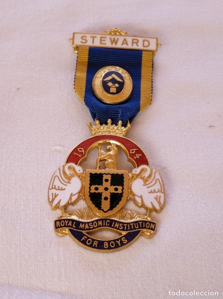 MEDALLA MASÓNICA BRITÁNICA. (Numismática - Medallería - Condecoraciones)