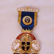 Medallas condecorativas: MEDALLA MASÓNICA BRITÁNICA.. Lote 212631265