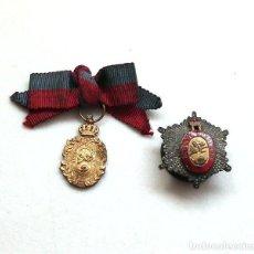 Medallas condecorativas: MEDALLA E INSIGNIA DE LA REAL ACADEMIA HISPANO AMERICANA DE CIENCIAS, ARTES Y LETRAS DE CÁDIZ. Lote 216005216