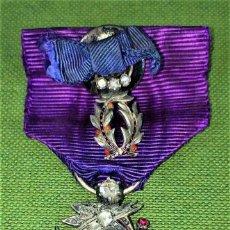 Medallas condecorativas: CONDECORACIÓN ORDRE DES PALMES ACADEMIQUES. PLATA CON DIAMANTES. FRANCIA. SIGLO XIX-XX. Lote 119106331
