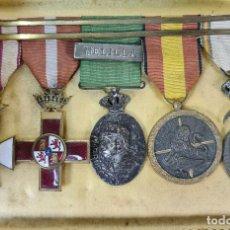 Medallas condecorativas: BARRA DE 5 MEDALLAS MILITARES. VARIAS CAMPAÑAS. VER DESCRIPCION. SIGLO XX.. Lote 217705391