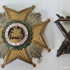 Medallas condecorativas: CRUZ DE LA ORDEN DE SAN HERMENEGILDO. INSIGNIA DE ARTILLERIA EN PLATA. SIGLO XX.. Lote 217708326