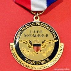 Medallas condecorativas: MEDALLA USA REPUBLICAL PRESIDENTIAL NATIONAL CONVENTION 1992 ESTADOS UNIDOS. Lote 218822768