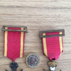 Medallas condecorativas: LOTE 2 MEDALLAS MILICIA NACIONAL. Lote 222896460
