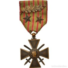 Medaglie condecorativas: FRANCIA, CROIX DE GUERRE, 3 CITATIONS, MEDALLA, 1914-1915, EXCELLENT QUALITY. Lote 223537500