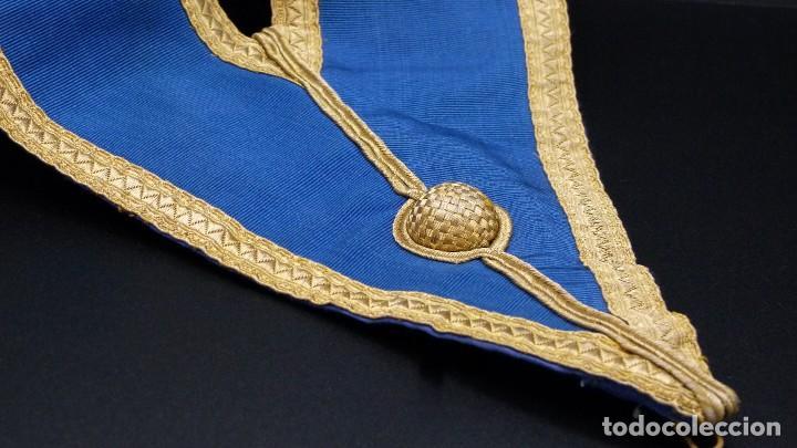 Medallas condecorativas: ANTIGUO GRAN COLLAR CEREMONIAL MASONICO / MAESTRO MASÓN AZUL / ORO SEDA: GEORGE KENNING & SON LONDON - Foto 3 - 223617615