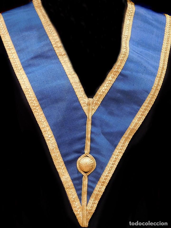 Medallas condecorativas: ANTIGUO GRAN COLLAR CEREMONIAL MASONICO / MAESTRO MASÓN AZUL / ORO SEDA: GEORGE KENNING & SON LONDON - Foto 17 - 223617615