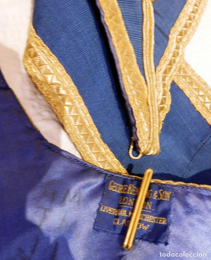 Medallas condecorativas: ANTIGUO GRAN COLLAR CEREMONIAL MASONICO / MAESTRO MASÓN AZUL / ORO SEDA: GEORGE KENNING & SON LONDON - Foto 12 - 223617615