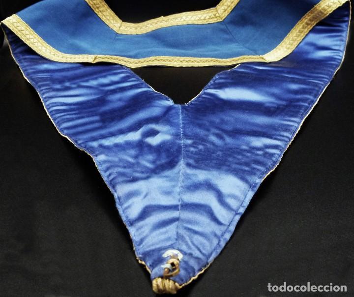 Medallas condecorativas: ANTIGUO GRAN COLLAR CEREMONIAL MASONICO / MAESTRO MASÓN AZUL / ORO SEDA: GEORGE KENNING & SON LONDON - Foto 15 - 223617615