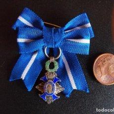 Medallas condecorativas: MEDALLA ENCOMIENDA DEL MERITO CIVIL. MINIATURA DE SOLAPA O PASADOR. PLATA.. Lote 225513345