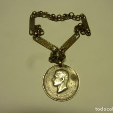 Medallas condecorativas: CADENA CON MEDALLA ALFONSO XII LOS EJERCITOS VENCEDORES DE LOS CARLISTAS 1873-1874. Lote 229420050