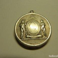 Medallas condecorativas: MEDALLA MASONICA CUBANA PREMIO A LA CONSTANCIA PLATA. Lote 229420360