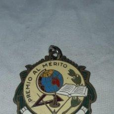 Medallas condecorativas: MEDALLA PREMIO AL MERITO APLICACIÓN BRONCE Y ESMALTE. Lote 235811115