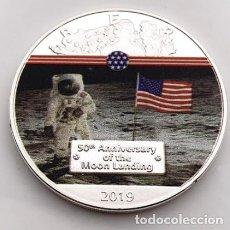 Medallas condecorativas: MONEDA CONMEMORATIVA NASA MISION LUNAR - 50 AÑOS. Lote 237737815