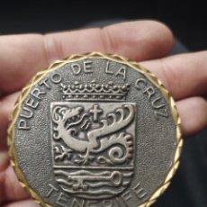 Medallas condecorativas: MONEDA MEDALLA PUERTO DE LA CRUZ TENERIFE. Lote 239446435