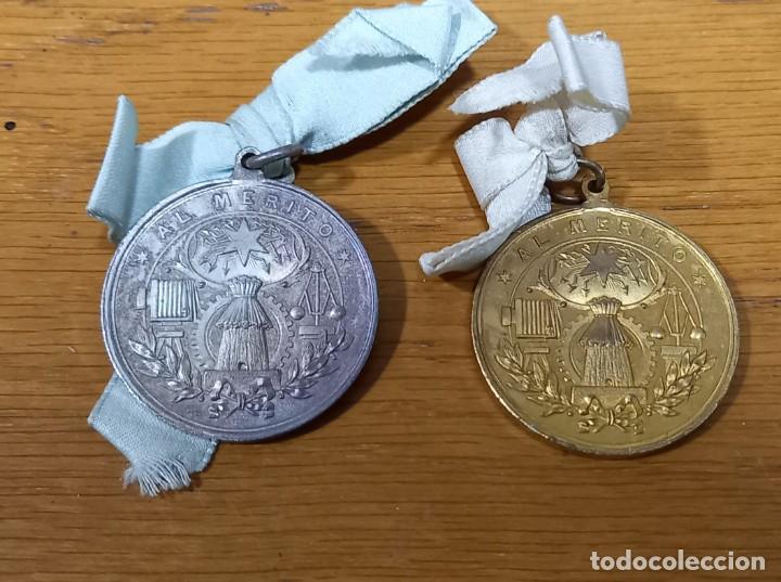 Medallas condecorativas: 18 MEDALLAS AL MERITO PLATEADAS Y DORADAS SIGLO XIX - Foto 2 - 243906020