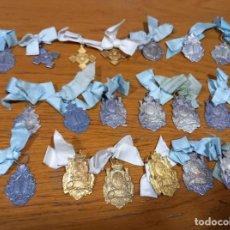 Medallas condecorativas: 19 MEDALLAS AL MERITO PLATEADAS Y DORADAS SIGLO XIX. Lote 243906490