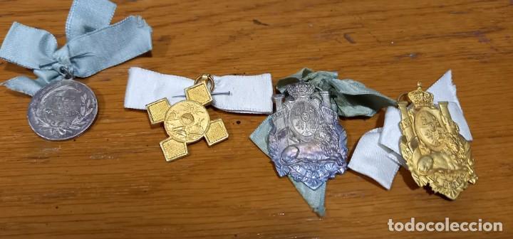 Medallas condecorativas: 19 MEDALLAS AL MERITO PLATEADAS Y DORADAS SIGLO XIX - Foto 2 - 243906490