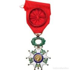 Medallas condecorativas: FRANCIA, LÉGION D'HONNEUR, OFFICIER, TROISIÈME RÉPUBLIQUE, MEDALLA, 1870. Lote 253547600