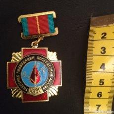 Medallas condecorativas: MEDALLA CHERNOBYL UCRANIA RADIACTIVIDAD LIQUIDADORES URSS CENTRAL NUCLEAR. Lote 257335095