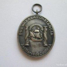 Medallas condecorativas: MEDALLA * PREMIO A LA CONSTANCIA * ASTILLEROS DE CADIZ * PLATA. Lote 266369583