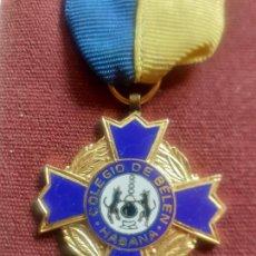 Medallas condecorativas: MEDALLA. COLEGIO DE BELÉN. HABANA. CUBA. Lote 268943394