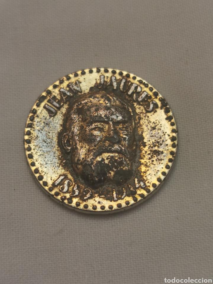 MONEDA O MEDALLA PONE JEAN JAURES 1859 1914 (Numismática - Medallería - Condecoraciones)