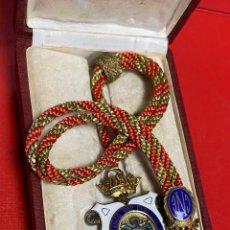 Medallas condecorativas: IMPRESIONANTE MEDALLA DE CATEDRATICO ESMALTADA CON CORONA MOVIL. 6 X 5 CM MEDALLA. Lote 277513323
