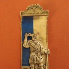 Medallas condecorativas: MEDALLA DE 1966, BARCELONA-MILANO-LUZERN. Lote 278839028