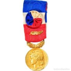 Medallas condecorativas: [#180812] FRANCIA, MÉDAILLE D'HONNEUR DU TRAVAIL, MEDALLA, EXCELLENT QUALITY, MATTEI, ORO. Lote 289274358