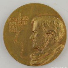 Medallas condecorativas: RICHARD WAGNER - 1813-1963. MEDALLA 5CM DIÁMETRO.. Lote 296608428