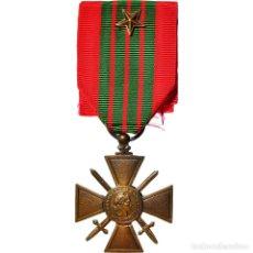 Medallas condecorativas: [#182048] FRANCIA, CROIX DE GUERRE, UNE ETOILE, WAR, MEDALLA, 1939, SIN CIRCULACIÓN. Lote 297160248