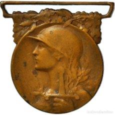Medallas condecorativas: [#182060] FRANCIA, GRANDE GUERRE, MEDALLA, 1914-1918, MUY BUEN ESTADO, MORLON, BRONCE, 33. Lote 297160898