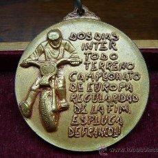 Collezionismo sportivo: MEDALLA DEPORTIVA DEL REAL MOTO CLUB DE CATALUÑA - ESPLUGA DE FRANCOLI. Lote 24186551