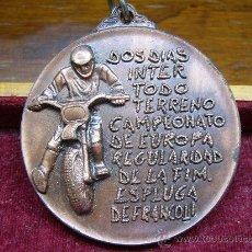 Collezionismo sportivo: MEDALLA DEPORTIVA DEL REAL MOTO CLUB DE CATALUÑA - ESPLUGA DE FRANCOLI. Lote 17758839