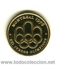 MONEDA CONMEMORATIVA JUEGOS OLIMPICOS - MONTREAL 1976 (Coleccionismo Deportivo - Medallas, Monedas y Trofeos - Otros deportes)