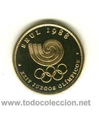MONEDA CONMEMORATIVA JUEGOS OLIMPICOS - SEUL 1988 (Coleccionismo Deportivo - Medallas, Monedas y Trofeos - Otros deportes)