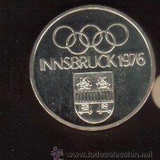 Coleccionismo deportivo: PRECIOSA MEDALLA DE PLATA CONMEMORATIVA OLIMPIADAS DE INNSBRUCK DE 1976 VER FOTOS. Lote 30520434