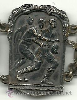 Coleccionismo deportivo: (F-93)BRAZALETE 6 MEDALLAS DE PLATA DE ROSSINI F.C.BARCELONA,RUGBY,BOXEO,LUCHA GRECO ROMANA,ETC. - Foto 4 - 30905005